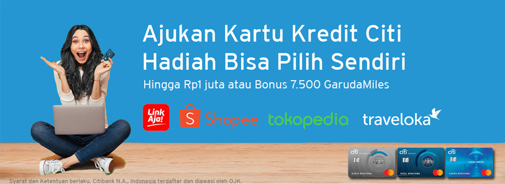 Apply Kartu Kredit Evoucher Tokopedia Citibank Indonesia
