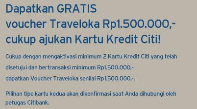 Ajukan Kartu Kredit Dapatkan Promo Traveloka Citibank Indonesia