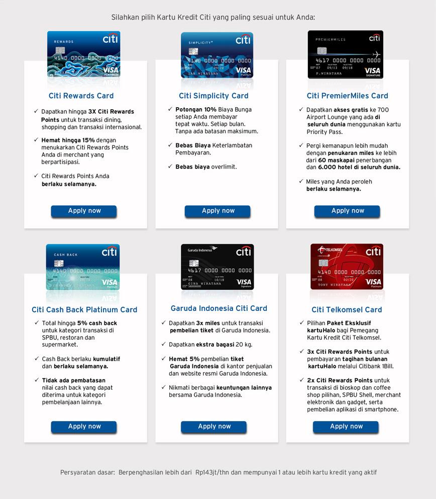 Citibank Secure Login >> Apply Kartu Kredit Online Citibank Indonesia
