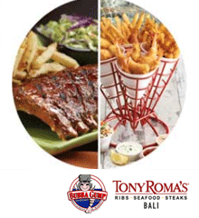 Tony Roma's and Bubba Gump Bali