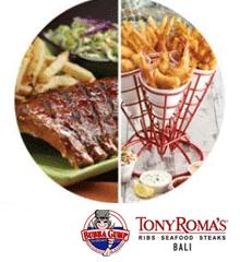 Tony Roma's and Bubba Gump Bali