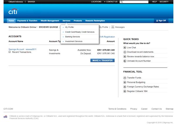 Citibank Account Online >> Digital Banking Services Citibank Indonesia