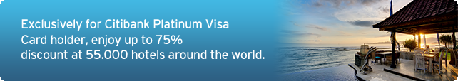 Exlusively for Citibank platinum Visa