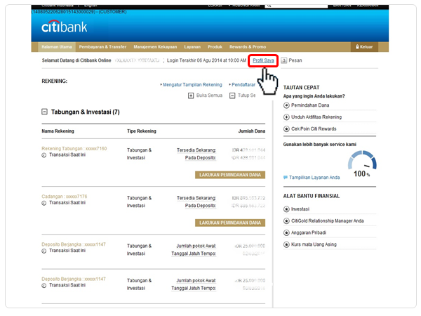 Citibank online one time password otp for Siti mobili on line